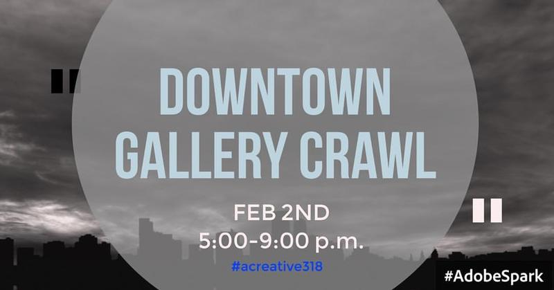 February's Gallery Crawl is the first of 2017.