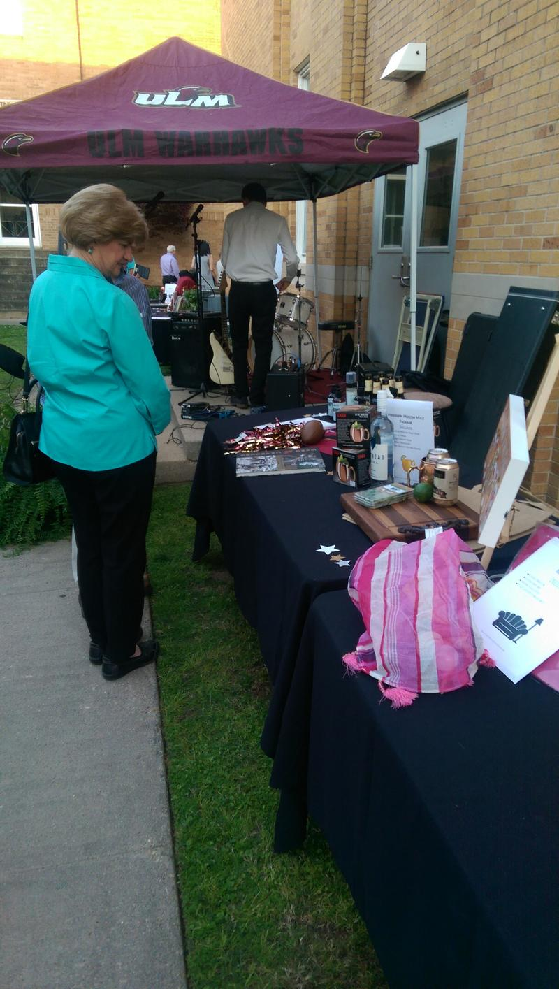 "The silent auction featured ""experience"" packages, including a patio party, a men's night in, and more."