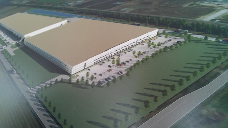 Artist rendering of the Monroe, LA Plant and Distribution Facility