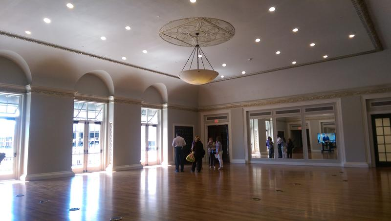 The grand ballroom of the hotel will now be used as an exercise facility for Vantage employees.