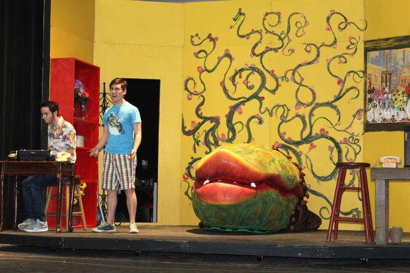 The 'plant' prop was borrowed from Music Theatre International based out of New York City.