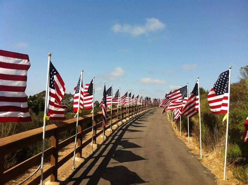 The Run for the Red, White, and Blue will be full of ballons, music, and american flags.