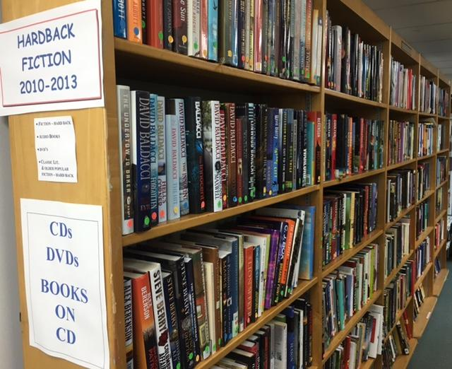 Books will be organized by genre and author to make them easier to find.