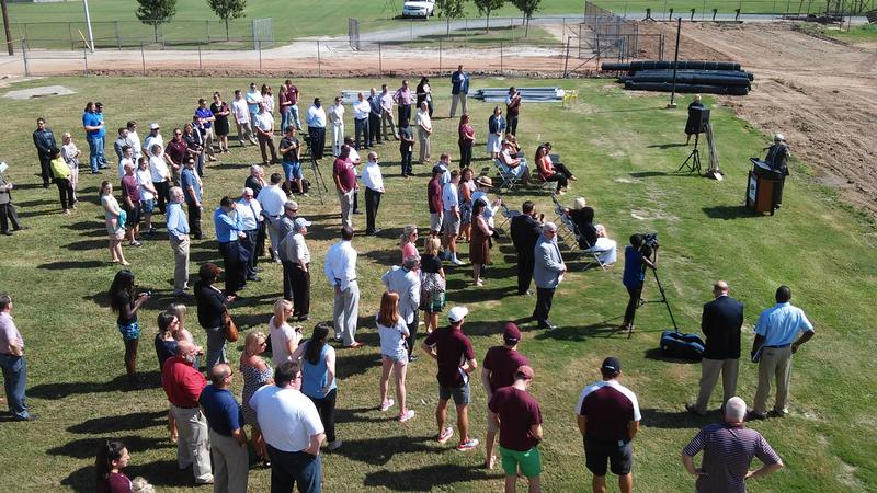A lage crowd was at the ground breaking ceremony