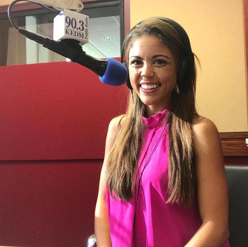 Laryssa visits KEDM to explain her journey to Miss America.