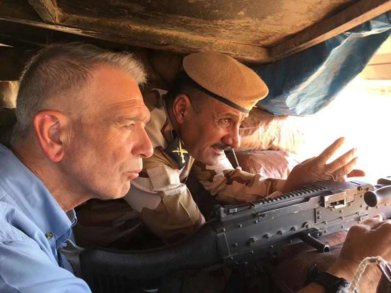 Congressman Ralph Abraham visits with Peshmerga forces in Iraq