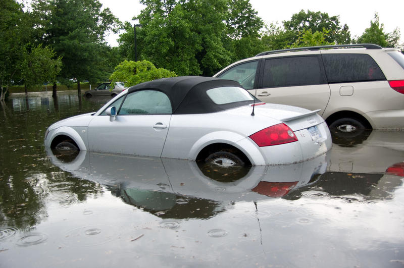 Inspect vehicles for flood damage before you purchase them.