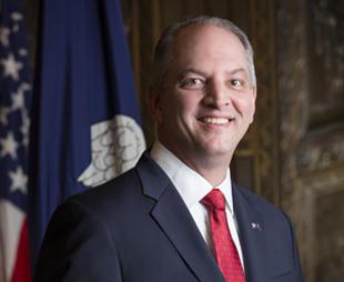 Governor John Bel Edwards addresses Louisiana residents.
