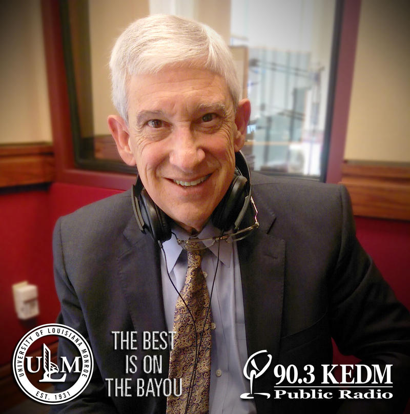 ULM President Dr. Nick Bruno stopped by with a $1,000 challenge and a chance to talk about ULM's partnership to make KEDM a reality.