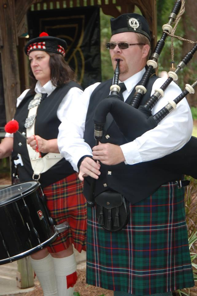 Many visitors favorite part of the Celtic Fest are the iconic bagpipes.