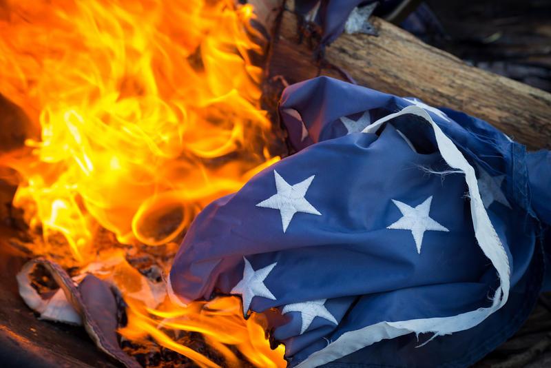 Flag retirement ceremony
