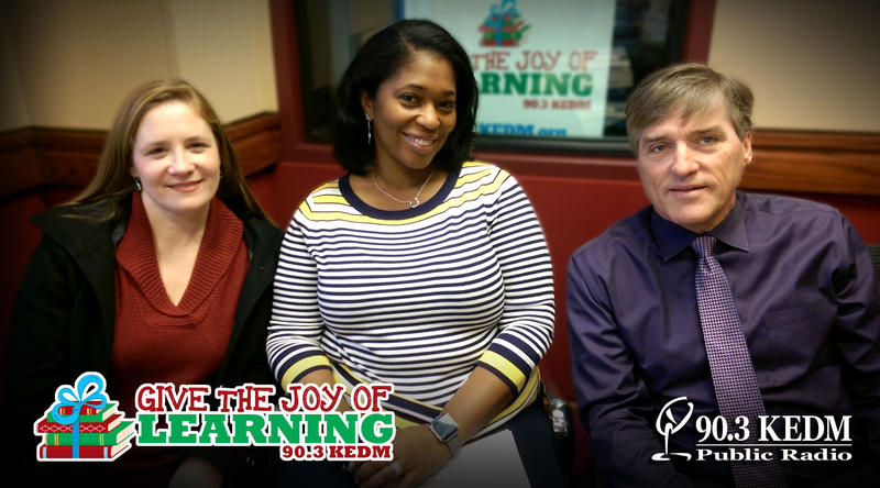 Serena White, Jennifer Harris, and Monroe City School Superintendent Brent Vidrine