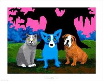 This Blue Dog Print will be raffled the night of the concert.