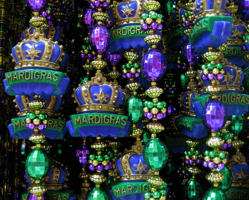 The Krewe of Janus will be throwing over a thousand beads in the 2018 parade.