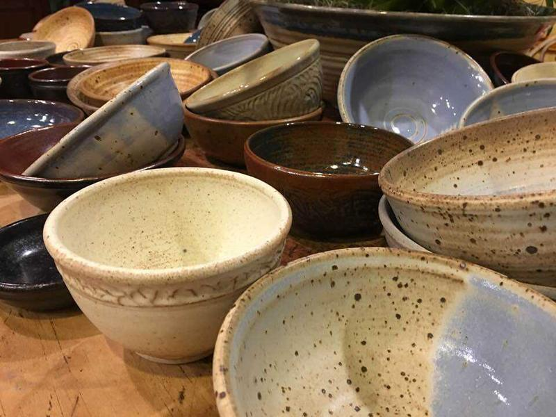 Local artists have donated over 100 beautifully handcrafted bowls to benefit the Food Bank of Northeast Louisiana.