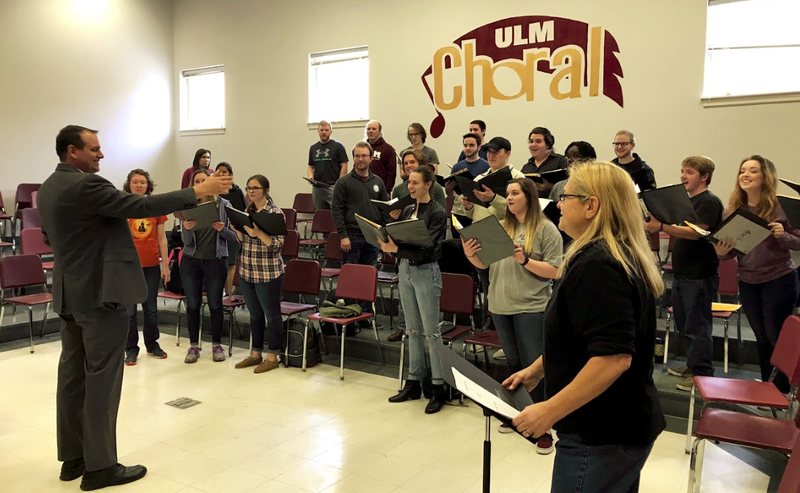 Dr. Sekhon's music is being performed by several ULM ensembles, including the ULM Chamber Choir.
