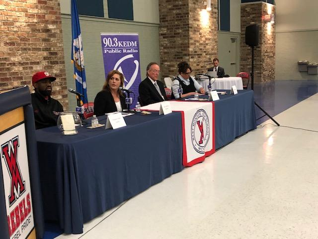 Each candidate had a chance to answer questions and meet with the public.