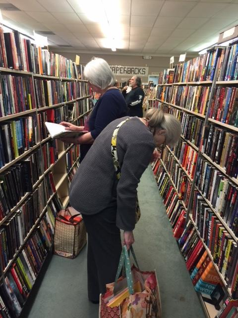 The book sale features gently-used books, magazines, and reference materials.