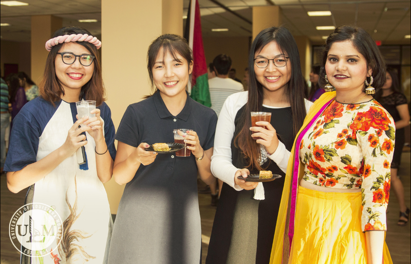 Students can enjoy food at the International Student Banquet.