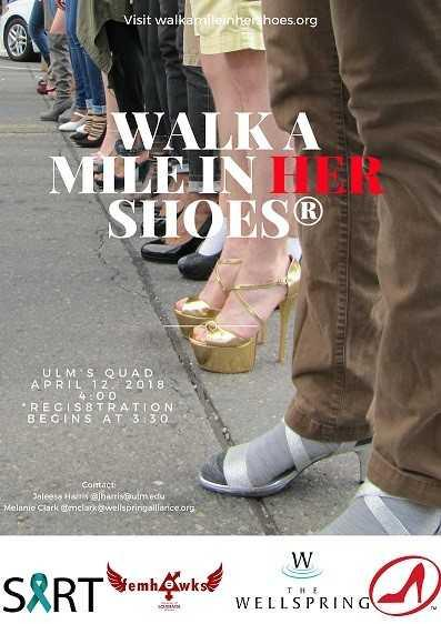 Men are encouraged to wear heels for the walk, if possible.
