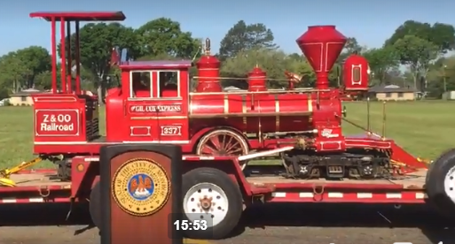The new train engine was purchased with a grant from CVB.
