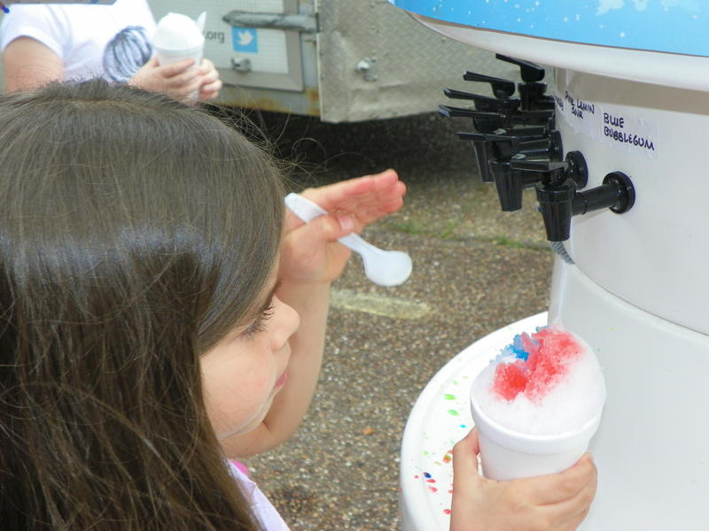 There are free sno-cones, an obstacle course, and two bounces at the Summerfest!