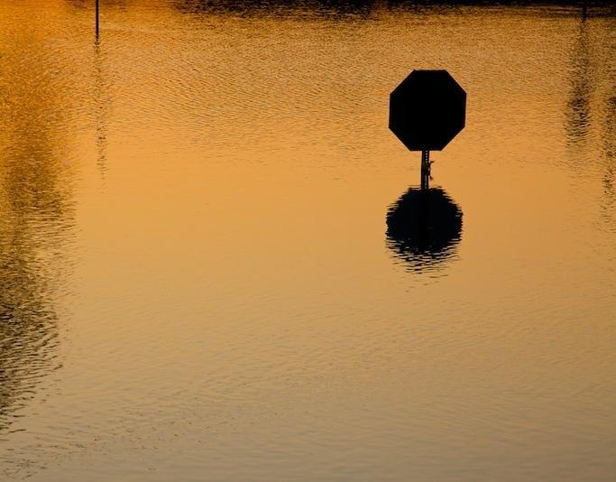 This photo was taken during the 2009 flooding in Monroe, Louisiana.