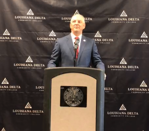 Governor John Bel Edwards announces a new campus is coming for LDCC.