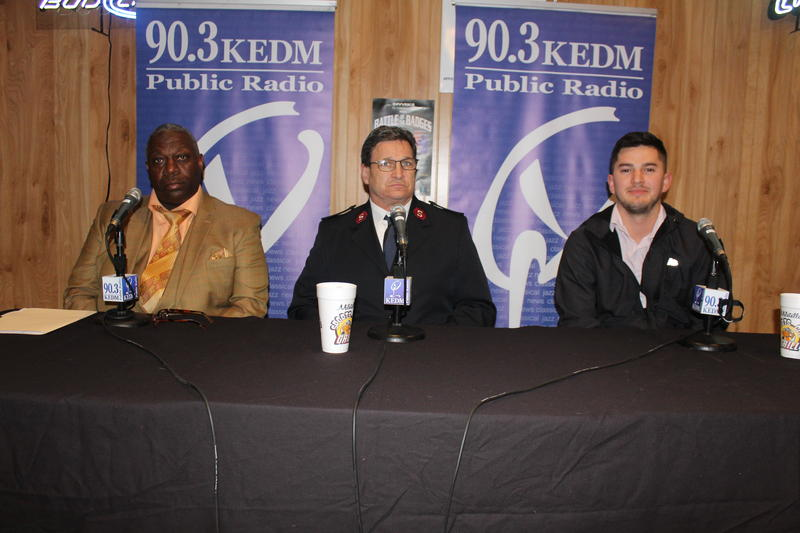 Billy Varner, Jerry Casey, Matt Villereal - panelist at KEDM Policy and a Pint