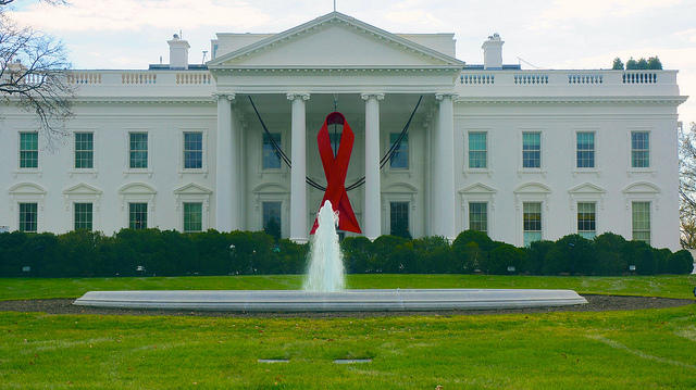 World AIDS Day - Red Ribbon on the White House