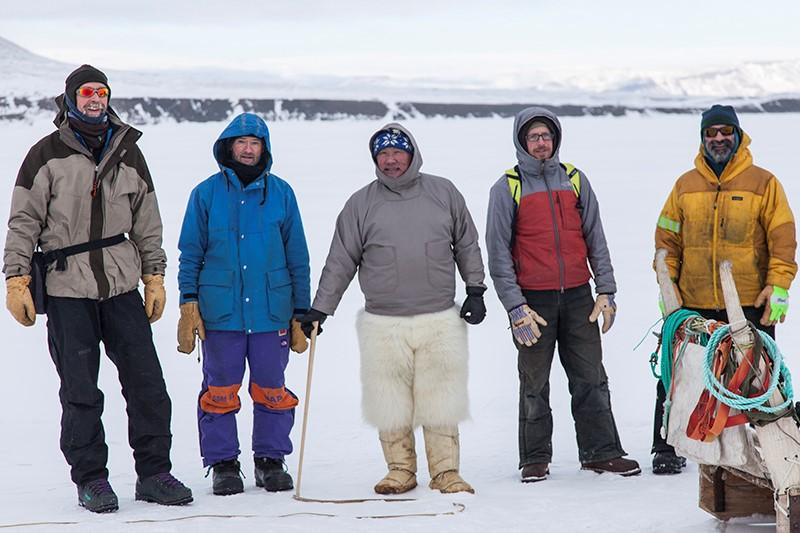 YPR listener and Billings resident Pat Smith, second from Left, in a group photo from near Thule Air Station, Greenland before heading to the National Science Foundation's Summit Station