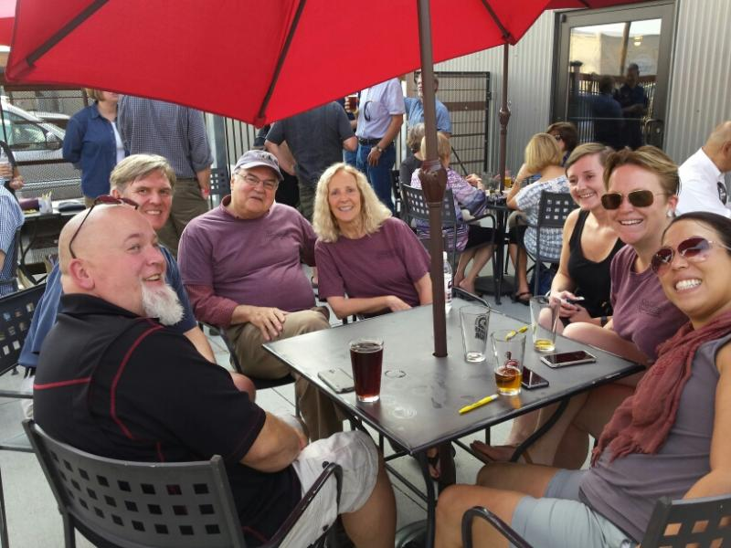 YPR Board Members Paul McKean (2nd to the left), David Craig, Marilynn Miller, supporter and Anna Paige at Angry Hanks in Billings!