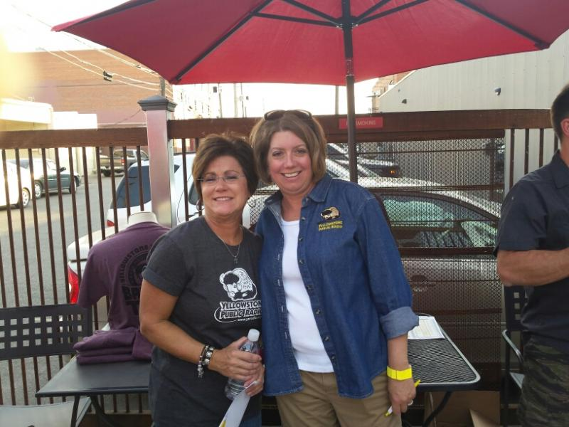 YPR's Kristy Catlin and Jill Hirschi at Angry Hanks in Billings!