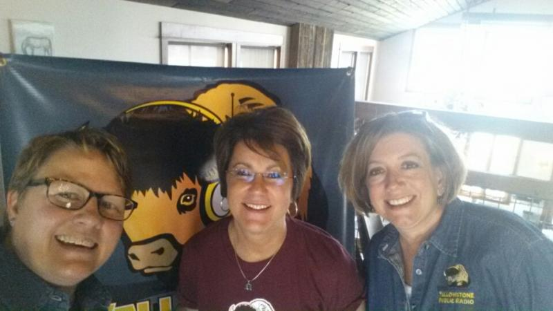 YPR Staff Laura Voight, Kristy Catlin, Jill Hirschi are setting up for the Bozeman stop!