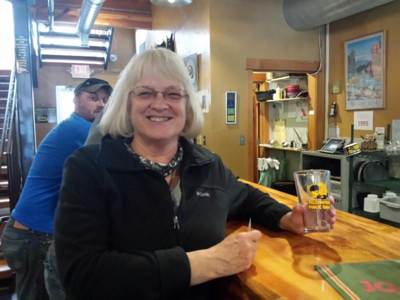 A fond YPR supporter in Helena at the Blackfoot Brewing Company!