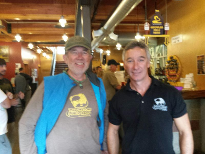 A great YPR supporter with YPR's Jim Nichols at the Blackfoot Brewing Company in Helena.