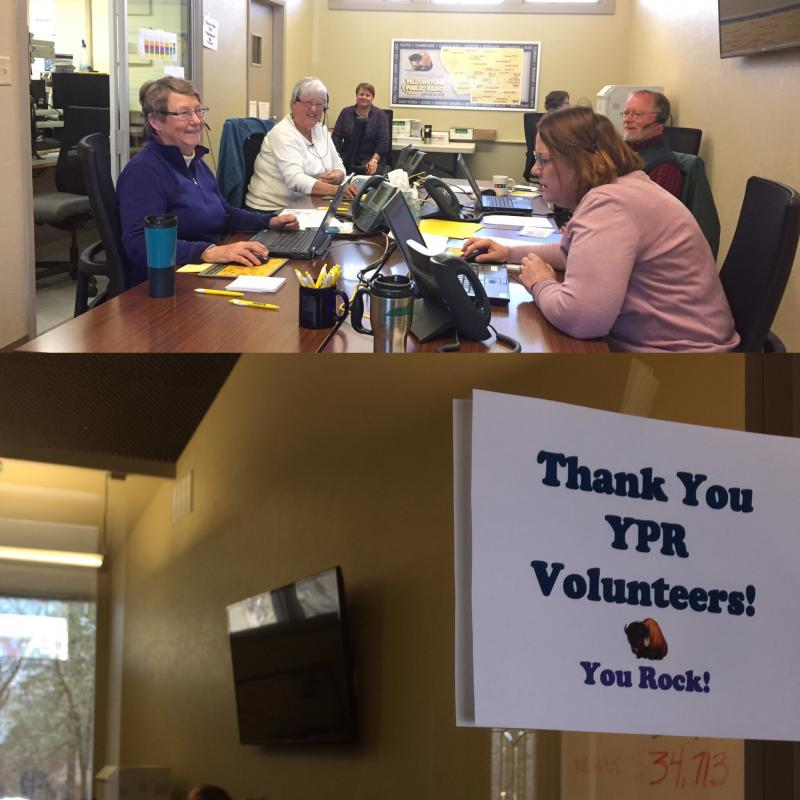 We appreciate the 95 volunteers who worked hard to answer phones during our weeklong pledge drive.