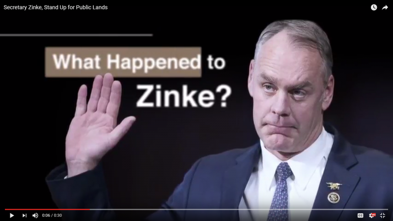 Backcountry Hunters and Anglers launched an ad campaign Wednesday criticizing Secretary Ryan Zinke's review of national monuments.