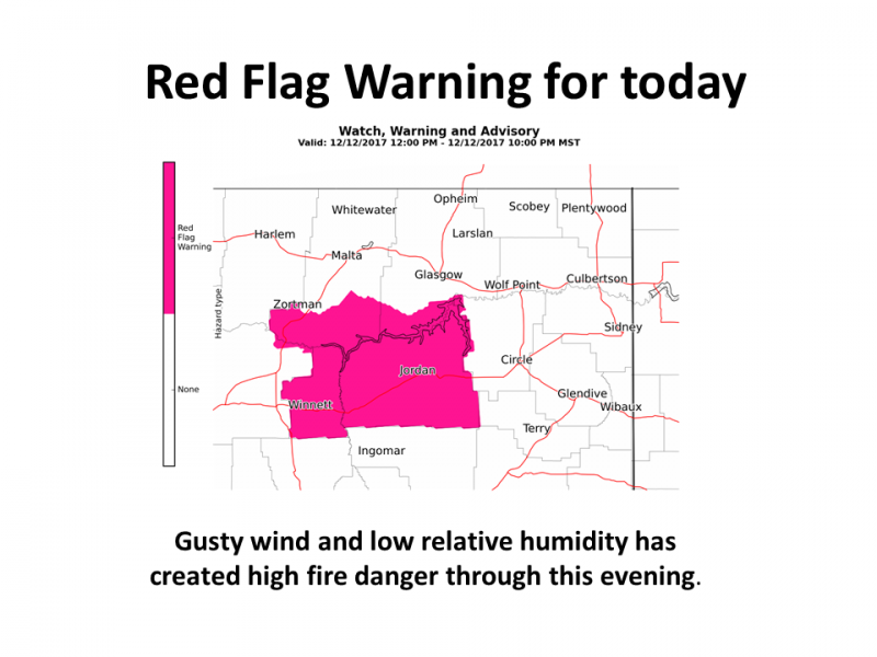 A red flag warning issued December 12th is the latest on record, says a National Weather Service official.