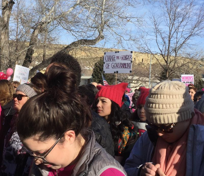 The Billings Women's March ended at North Park. Speakers urged attendees to continue to work for social change