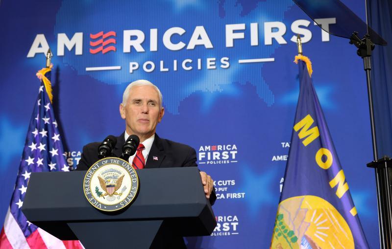 Vice President Mike Pence speaking in Billings, MT