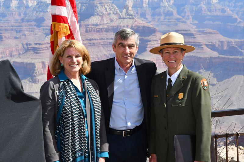 Superintendent Christine Lehnertz, far right, is under investigation by the Interior Department's Inspector General.