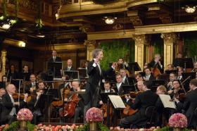 Vienna Philharmonic with Conductor Franz Welser-Möst.