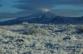 Hekla volcano in Iceland. Hekla is ready to erupt but its magma chamber is so deep, even for modern instruments, that it will give little warning.