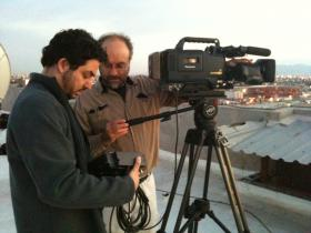 Bernardo Ruiz and Claudio Rocha film sunrise in Mexicali, Mexico