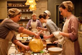 Lesley Nicol as Mrs. Patmore in the kitchen