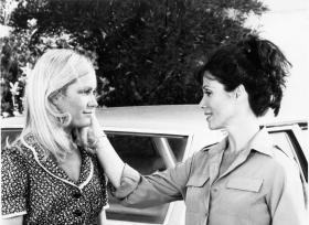 "Michele Lee (right) and Joan van Ark on ""Knots Landing."""