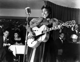 Sister Rosetta Tharpe performing in New York's Café Society in 1940.