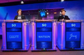 Jeopardy! panel at IBM's Watson Research Center.