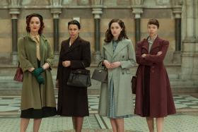Shown from L-R: Rachael Stirling as Millie, Julie Graham as Jean, Sophie Rundle as Lucy, Anna Maxwell Martin as Susan